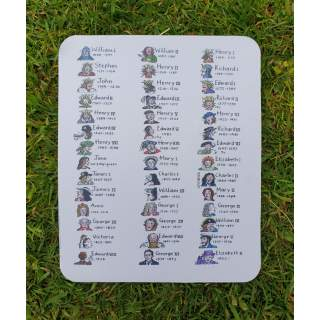 Waterproof mouse mat - Kings and Queens of England