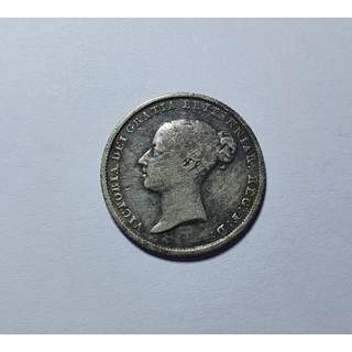 Young Queen Victoria - 1842 sixpence