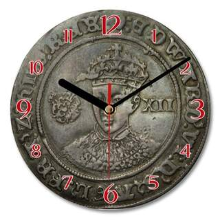 Wall Clock - Edward VI Silver Shilling